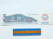 GULF McLAREN F1 GTR 1995 window decal/sticker approx 11 inch long (275mm)  Unused